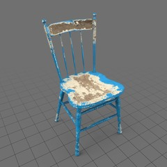 Wide back Windsor chair