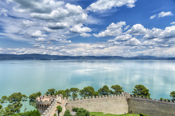 Lago Trasimeno von Castiglione del Lago aus