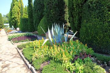 Комплекс летней резиденции румынской королевы Марии в Балчике (Болгария) и ботанический сад