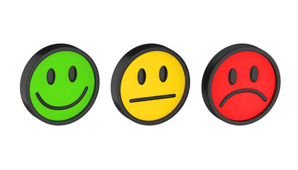 Smiley Faces Icons Isolated