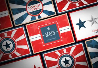 Patriotic Postcard Layout Set