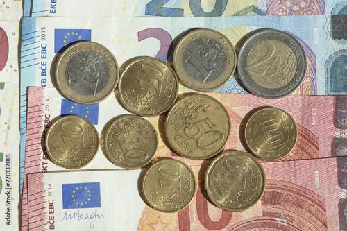 Dänische Kronen Münzen Euroscheine Stockfotos Und Lizenzfreie