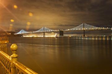 Lighted Bay Bridge