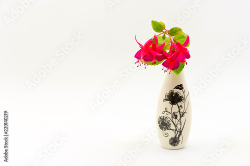 Still Life With Flowers In A Small Vase Stock Photo And Royalty