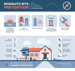 Mosquito bite prevention infographic