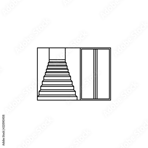 Staircase In The Entrance Icon Stairs In Our Life Icon Premium