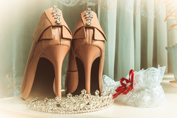 colored bride's shoes