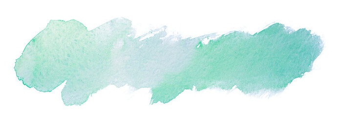 watercolor element for design green gray