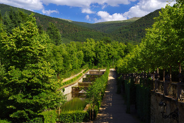 Gardens of the La Granja de San Ildefonso Castle, Segovia, Spain, Europe