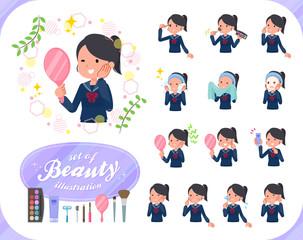 flat type school girl Sailor suit_beauty