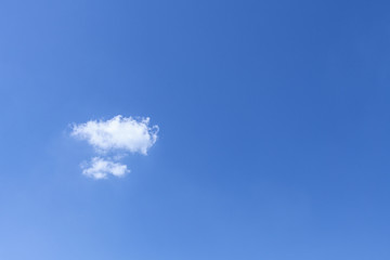 Single cloud and blue sky