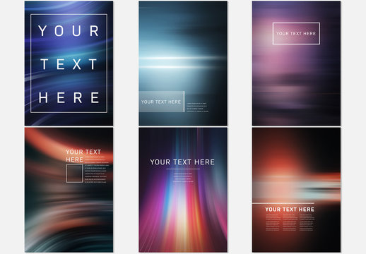 Flyer Layouts with Light Effect Backgrounds