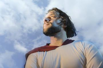 Jesus Christ portrait on a light background