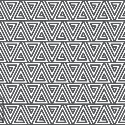 Seamless Abstract Geometric Pattern Black And White Texture Stock
