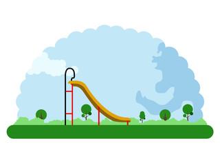 Landscape of a children park