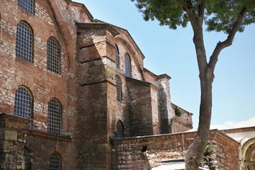 ISTANBUL, TURKEY - AUGUST 09, 2018: Beautiful view of Hagia Irene church