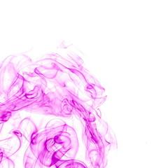Purple smoke on white background