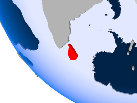 Sri Lanka on political globe