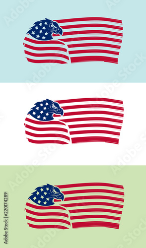 us flag with eagle on various backgrounds stock image and royalty