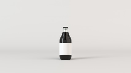 Mock up of beer bottle with blank label