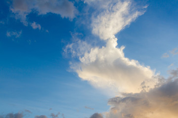 Blue sky cloudscape  before sunset use for background