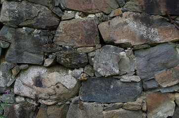 Close up of a stonewall