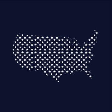 American star map logo icon vector template
