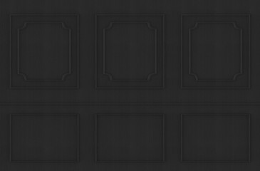 3d rendering. dark square classical pattern wall background.