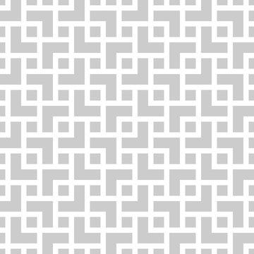 Geometric monochrome seamless pattern in asian style