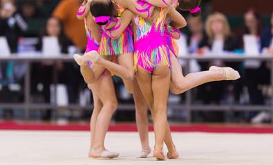 Printed kitchen splashbacks Gymnastics Rhythmic gymnastics competition