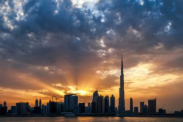 Beautiful dubai downtown skyline. Dubai, United Arab Emirates