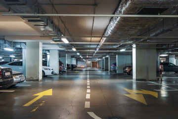 Underground garage or modern car parking