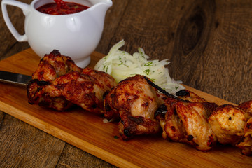 Grilled chicken shahslik bbq