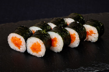 Fototapeta Japanese roll with salmon obraz
