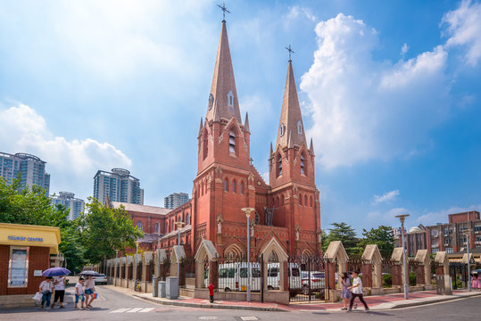 St. Ignatius Cathedral in Xujiahui, shanghai