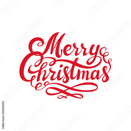 Red merry christmas text calligraphic lettering design card red merry christmas text calligraphic lettering design card template creative typography for holiday greeting m4hsunfo