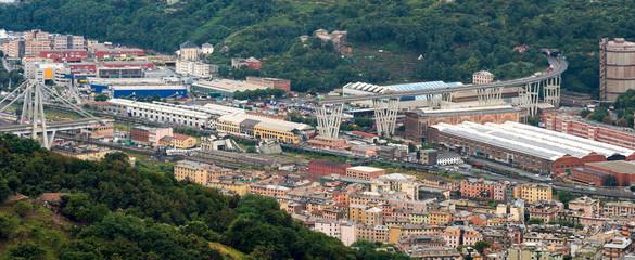 Morandi bridge in Genoa, Italy.