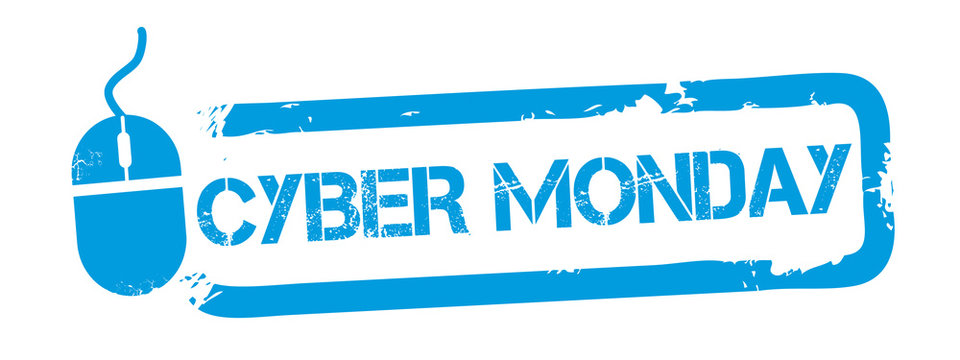 Cyber monday background rubber stamp