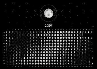 Moon Calendar 2019 Northern Hemisphere