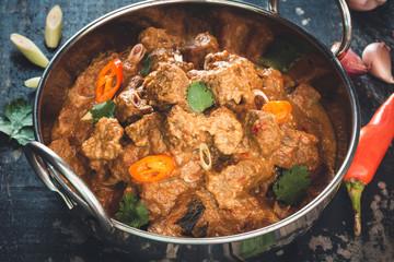 Boeuf Rendang, Curry de Boeuf Mijoté. Plat Indonésien.