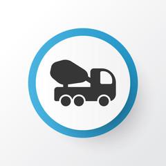 Concrete mixer icon symbol. Premium quality isolated cement machine element in trendy style.