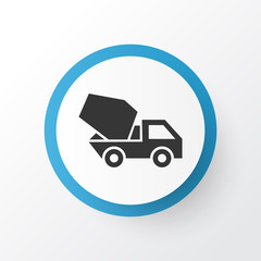 Concrete mixer icon symbol. Premium quality isolated cement vehicle element in trendy style.