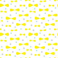 Cute shapes background. Seamless pattern.Vector. かわいい形のパターン
