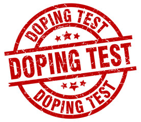 doping test round red grunge stamp