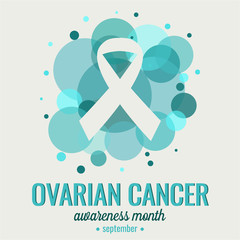 Ovarian Cancer awareness card or background. vector illustration.