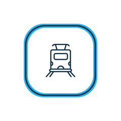 Vector illustration of subway train icon line. Beautiful carrying element also can be used as underground icon element.