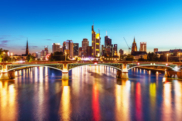 Wall Mural - Evening view of Frankfurt am Main, Germany