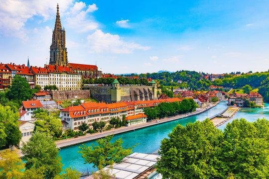 Summer panorama of Bern, Switzerland
