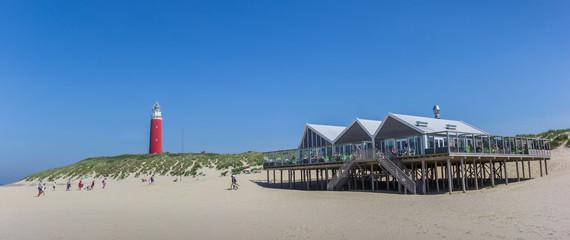 Restaurant on the beach of Texel Island, Netherlands Wall mural