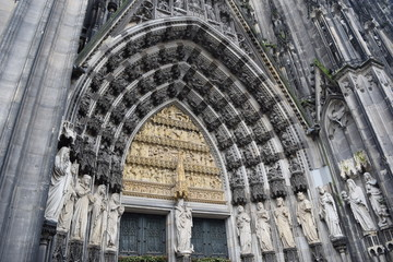 Köln Dom (Cologne Cathedral) Gothic Arch Doorway